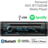 Kenwood Car Stereo | DAB+ Radio | CD-Receiver | Bluetooth | iPod-iPhone-Android | USB | AUX