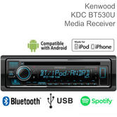 Kenwood Car Stereo | CD/USB-Receiver | 1 Din Media Player | Bluetooth | iPhone-iPod-Android