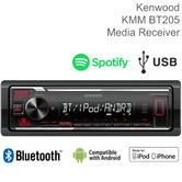 Kenwood Car Stereo | 1-Din Radio | Media Player | USB | AUX | Bluetooth | iPod-iPhone-Android