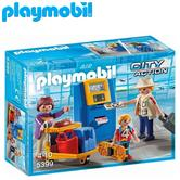 Playmobil Family at Check-In | Baby/Kid's Interactive Playset | Realistic Toys | +4 Years