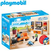Playmobil Living Room | Baby/Kid's Interactive Playset | Realistic Toys | +4 Years