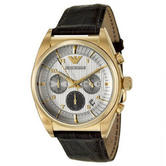 Emporio Armani Classic Men's Watch | Champagne Chronograph Dial | Gold Plated | AR0372