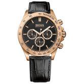 Hugo Boss Ikon Men's Watch | Chronograph Tachymeter Dial | Leather Strap | HB1513179
