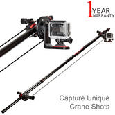 Joby Action Jib Kit & Pole Pack | Ultra-Portable | For Action Video Camera | Black/Red