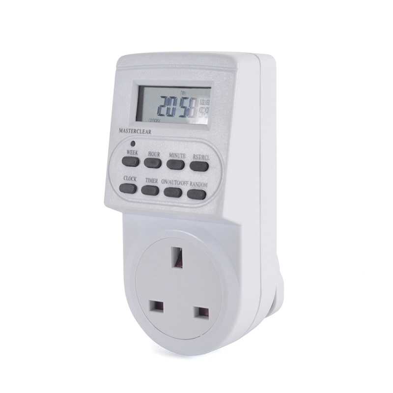 Lloytron Digital Programmable Timer | UK Plug-in Switch Socket | LCD Display | A1202-C