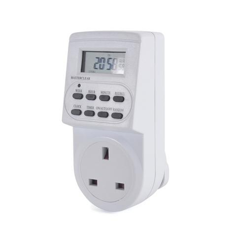 Lloytron Digital Programmable Timer | UK Plug-in Switch Socket | LCD Display | A1202-C Thumbnail 1