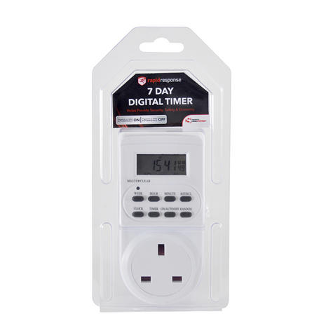 Lloytron Digital Programmable Timer | UK Plug-in Switch Socket | LCD Display | A1202-C Thumbnail 2