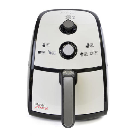 Lloytron Kitchen Perfected 2.5Ltr Digi-Touch Air Fryer | 30 Minute Timer | E6701BK Thumbnail 4