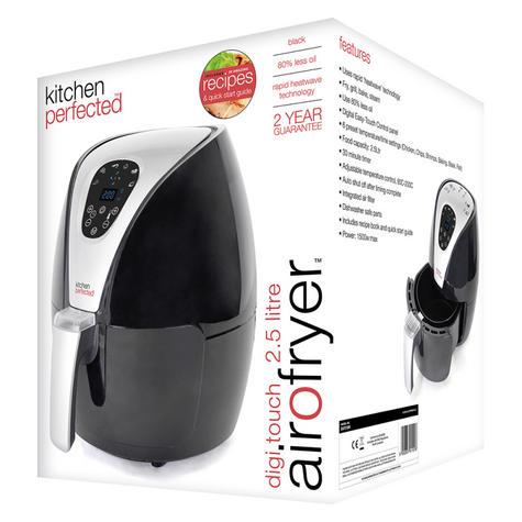 Lloytron Kitchen Perfected 2.5Ltr Digi-Touch Air Fryer | 30 Minute Timer | E6701BK Thumbnail 7