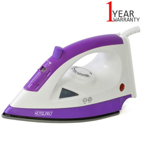 Lloytron 1200w Steam Iron For Especially Hotel Use | Steam-Dry Option | Purple | E7308 Thumbnail 1