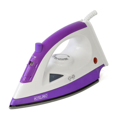 Lloytron 1200w Steam Iron For Especially Hotel Use | Steam-Dry Option | Purple | E7308 Thumbnail 2