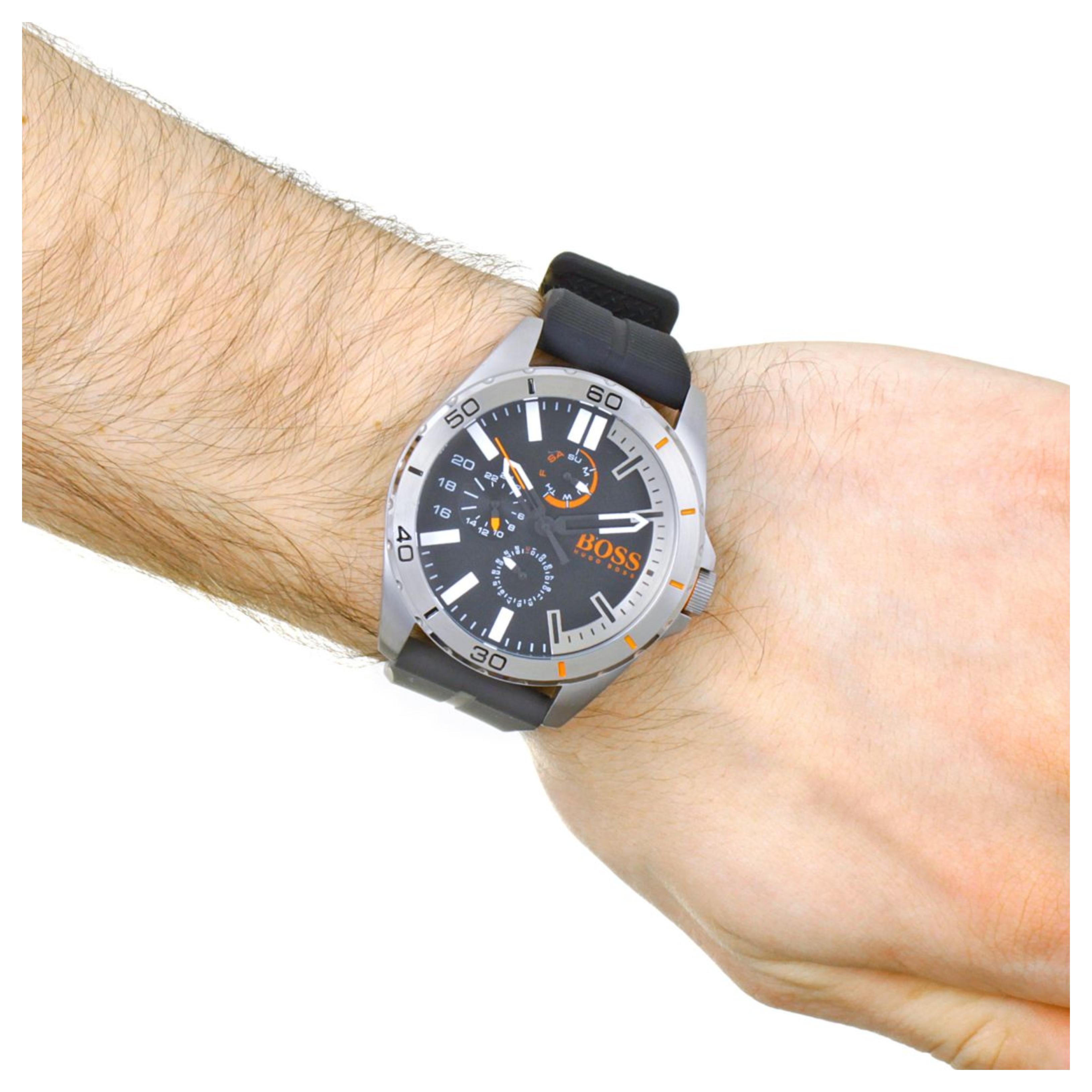 cb61d1126 Hugo Boss Orange Berlin Men's Watch|Chrono Dial|Black Silicone Strap|1513290  Thumbnail