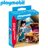 Playmobil Pirate with Treasure | Baby's Interactive Playset/Realistic Toys | +4 Year