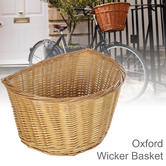 "Oxford Cycle/ Bicycle Wicker Basket D Shape - 20'' | High Quality Woven | Size 12"" to 20"""
