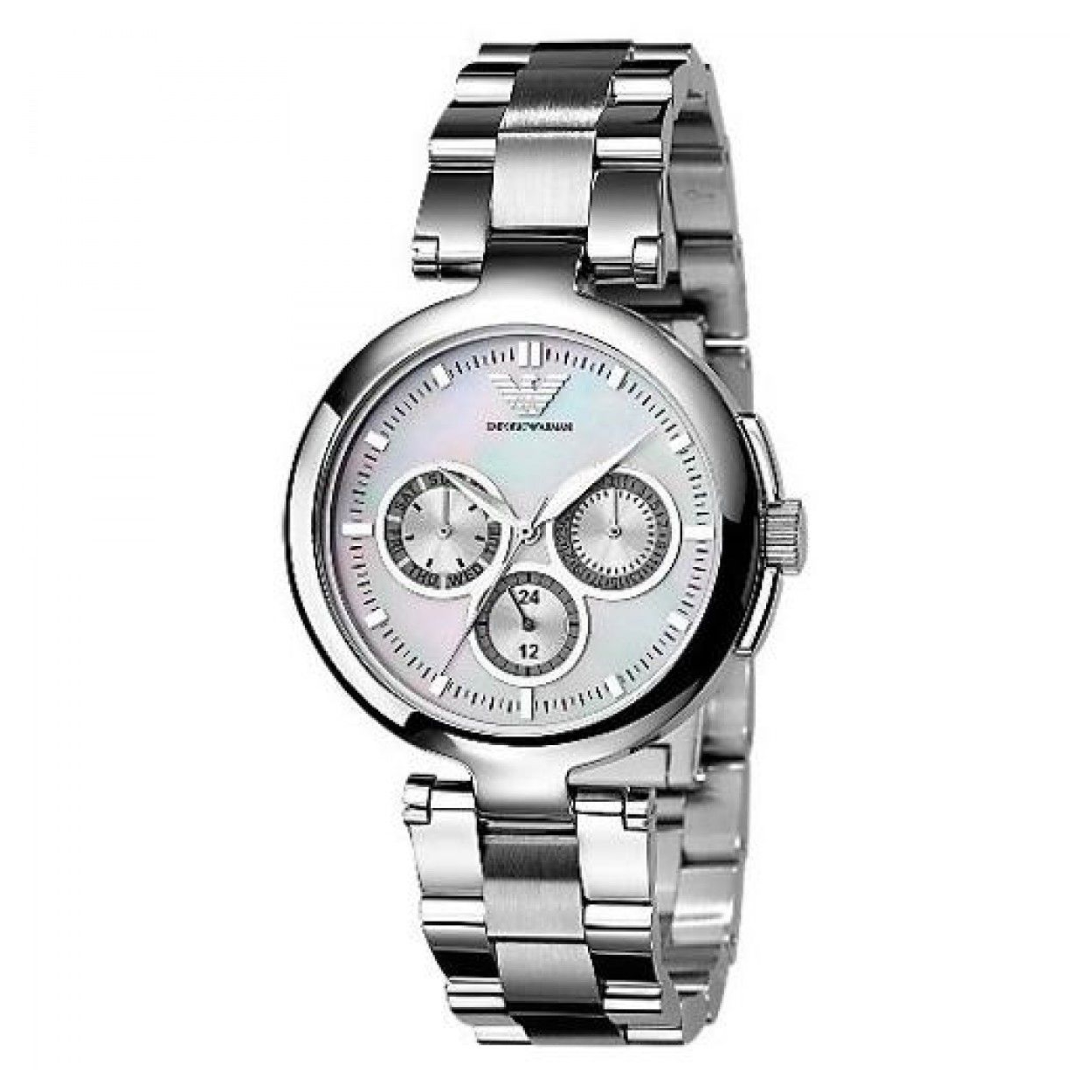 Emporio Armani Classic Ladies Watch | Mother of Pearl Dial | Stainless Strap | AR0734