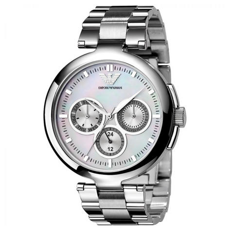 Emporio Armani Classic Ladies Watch | Mother of Pearl Dial | Stainless Strap | AR0734 Thumbnail 1
