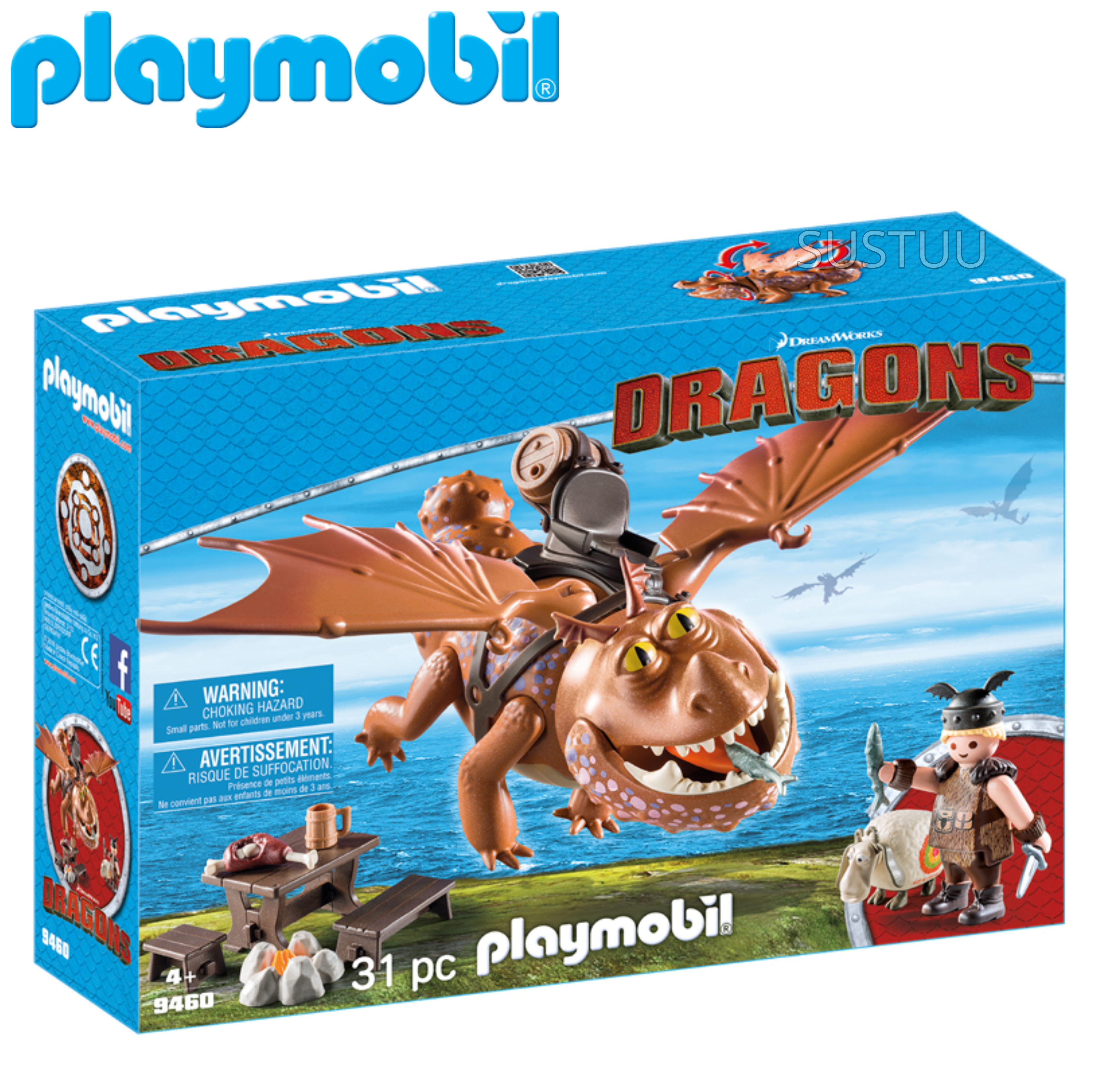 Playmobil Fishlegs and Meatlug | Baby's Interactive Playset/Realistic Toys | +4 Year