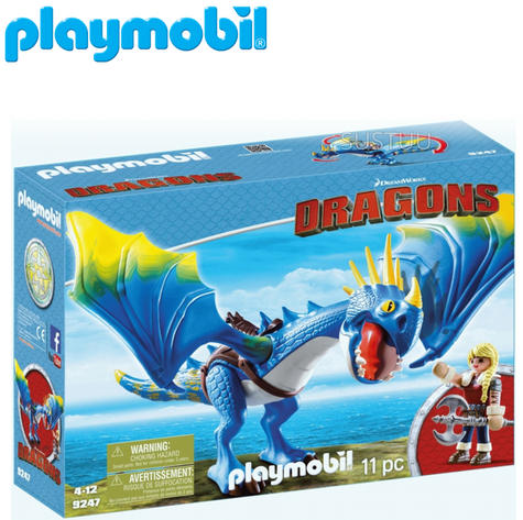 Playmobil Astrid & Stormfly | Baby's Interactive Playset/Realistic Toys | +4 Years Thumbnail 1