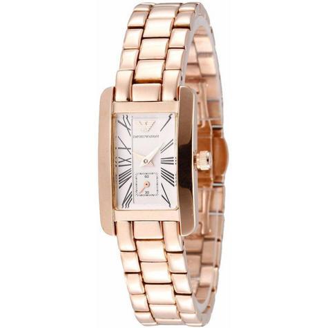 Emporio Armani Classic Ladies Watch | Chronograph White Dial | Bracelet Strap | AR0174 Thumbnail 1