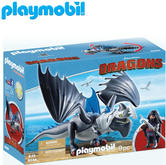Playmobil Drago & Thunderclaw | Baby's Interactive Playset/Realistic Toys | +4 Years