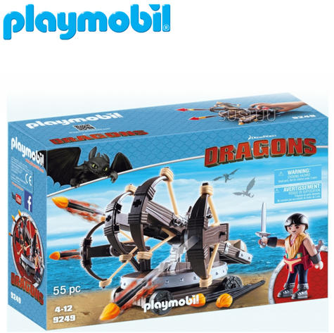 Playmobil Eret with 4 Shot Fire Ballista | Baby's Interactive Playset | +4 years Thumbnail 1
