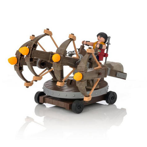 Playmobil Eret with 4 Shot Fire Ballista | Baby's Interactive Playset | +4 years Thumbnail 6