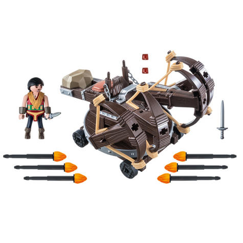 Playmobil Eret with 4 Shot Fire Ballista | Baby's Interactive Playset | +4 years Thumbnail 7