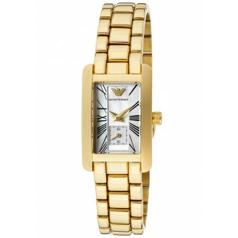 Emporio Armani Classic Ladies Watch | Chronograph Gold Dial | Bracelet Strap | AR0175 Thumbnail 1