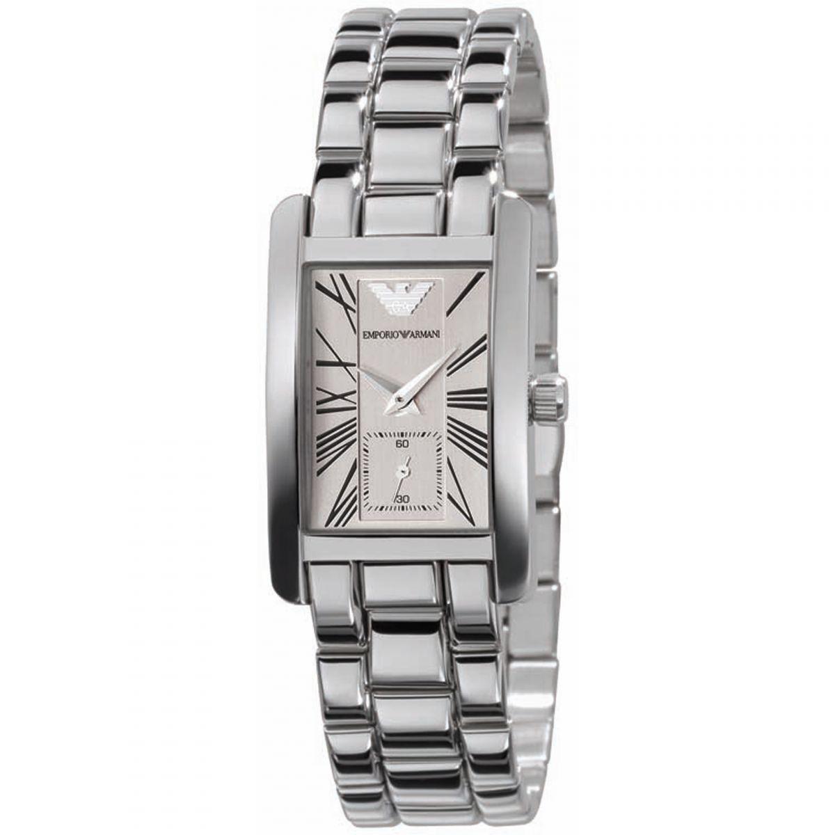 Emporio Armani Classic Ladies Watch | Chronograph White Dial | Bracelet Strap | AR0176