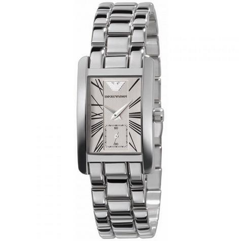 Emporio Armani Classic Ladies Watch | Chronograph White Dial | Bracelet Strap | AR0176 Thumbnail 1