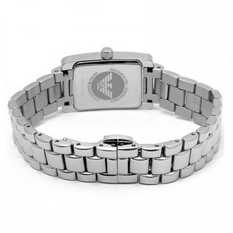 Emporio Armani Classic Ladies Watch | Chronograph White Dial | Bracelet Strap | AR0176 Thumbnail 2