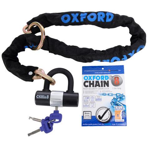 Oxford Chain 8 High Security Chain Lock & Mini Shackle - 1M | 8mm x 1000mm | LK140 Thumbnail 2