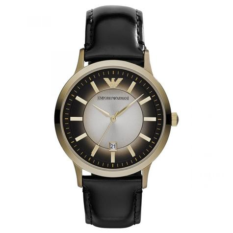 Emporio Armani Classic Men's Watch | PVD Gold Plated Case | Leather Strap | AR2468 Thumbnail 1