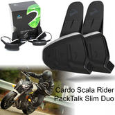 Cardo Scala Rider PackTalk Slim Duo Bluetooth Headset | Motorcycle Helmet Intercom