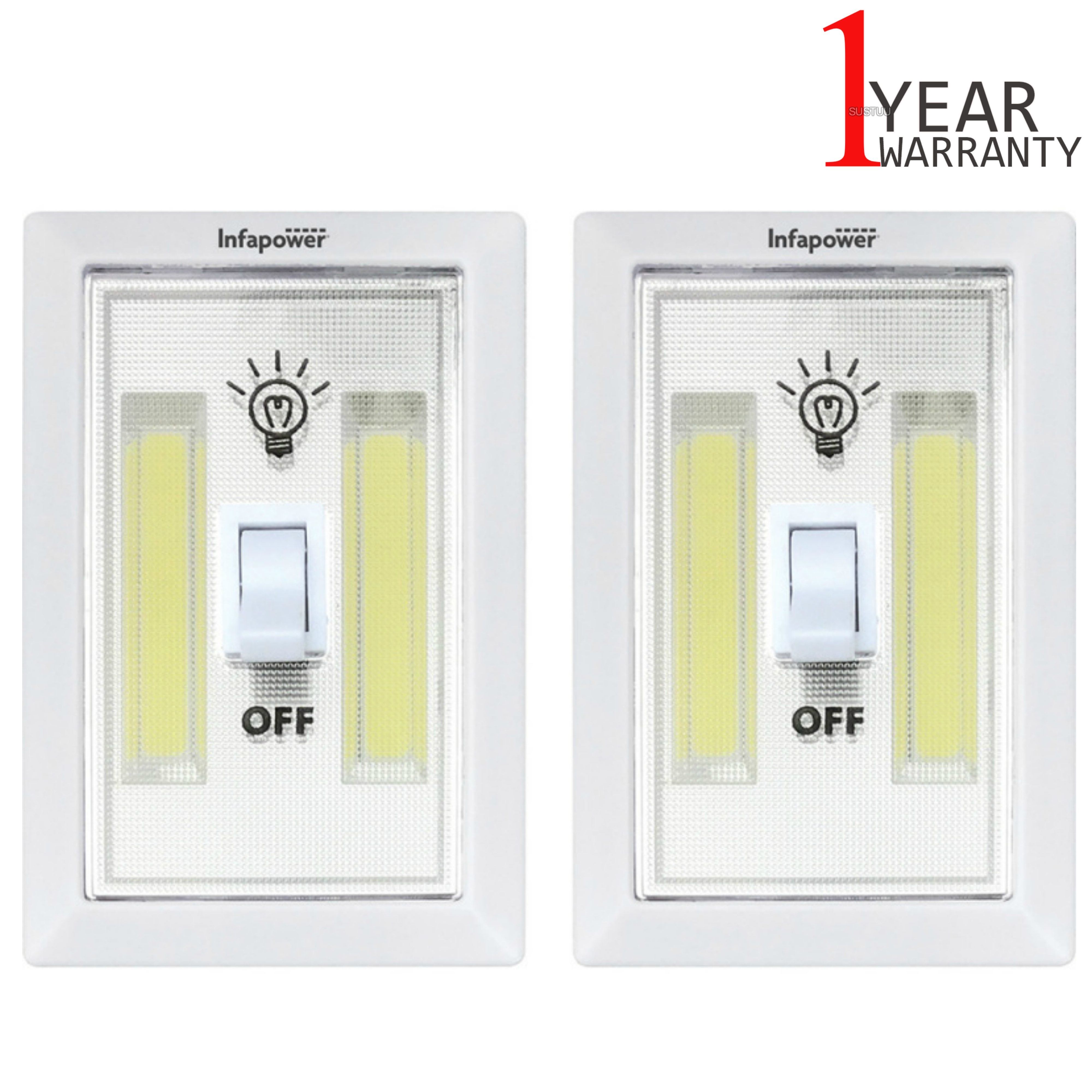 Infapower F043 Twin Pack 3W COB Switch Light | Home-Office-Leisure Use | 180 Lumens |