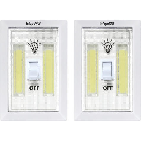 Infapower F043 Twin Pack 3W COB Switch Light | Home-Office-Leisure Use | 180 Lumens | Thumbnail 2