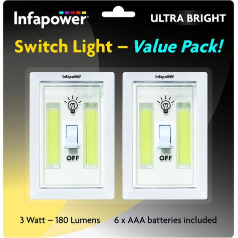 Infapower F043 Twin Pack 3W COB Switch Light | Home-Office-Leisure Use | 180 Lumens | Thumbnail 3