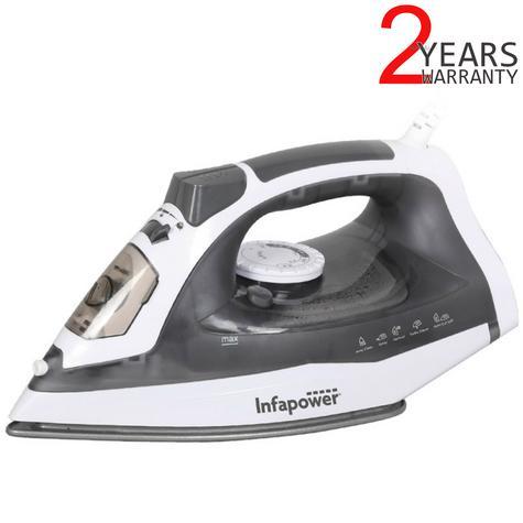 Infapower X602 Premium Spray/Steam/Dry Iron | Auto Cut Off | Self Clean | 2400W | Grey Thumbnail 1
