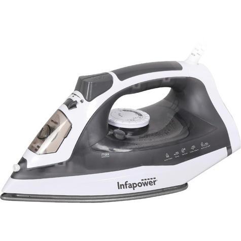 Infapower X602 Premium Spray/Steam/Dry Iron | Auto Cut Off | Self Clean | 2400W | Grey Thumbnail 2