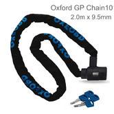 Oxford GP Chain10 Square General Purpose 4 Keys Chainlock | 2.0m x 9.5mm | Black | LK109