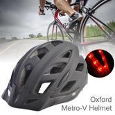 Oxford Metro-V Cycling Helmet with integrated 6 LED | 52-59cm / 58-61cm | Matt Black