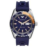 Emporio Armani Sportivo Men's Wrist Watch|Navy Blue Dial & Silicone Strap|AR6045