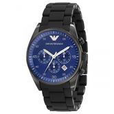 Emporio Armani Sportivo Men's Watch|Chronograph Blue Dial|Bracelet Band|AR5921