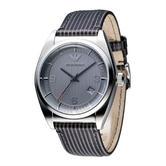 Emporio Armani Classic Men's Watch | Round Gunmetal Grey Dial | Leather Strap | AR0366