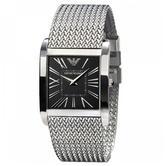 Emporio Armani Super Slim Men's Watch | Black Square Dial | Mesh Strap | AR2013