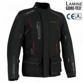 Bering Yukon Motorcycle/Bike Men Textile Jacket | CE APP/ GORE-TEX/ Waterproof | Black
