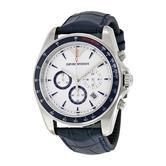 Emporio Armani Sigma Men's Watch | Chronograph Dial | Blue Leather Strap | AR6096