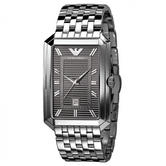 Emporio Armani Classic Men's Watch|Grey Dial|Stainless Steel Bracelet|AR0458