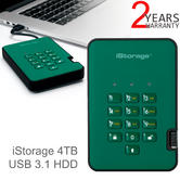 iStorage diskAshur2 256-bit 4TB Portable External Hard Drive | Storage | Racing Green