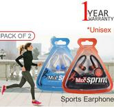 Mixx Sprint 2 Stereo In-Ear Sports Earphone | iPhone/iPad/iPod/Android | Black/White